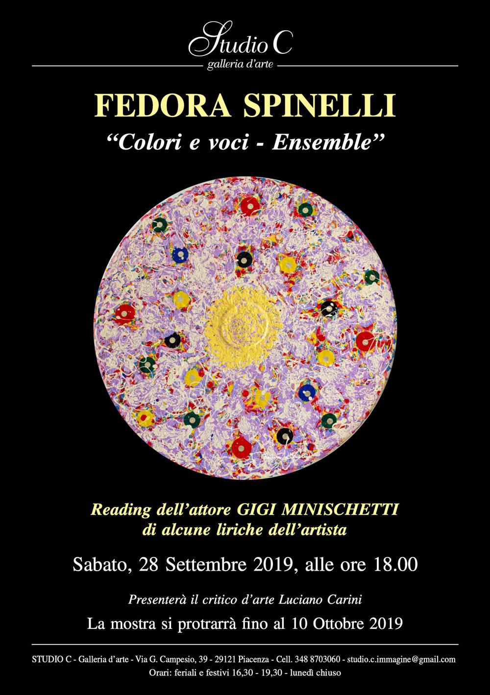 Dal 28 settembre esposizione a Piacenza: Colori e Voci –  Ensemble